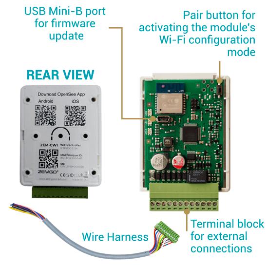 ZEM-CWI door controller access control