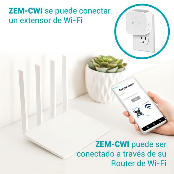 ZEM-CWI se puede conectar un extensor de Wi-Fi